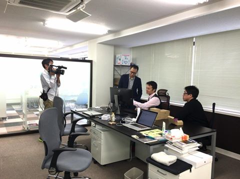 TVQ九州放送「ぐっ!ジョブ」の撮影風景